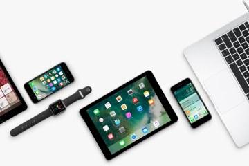 Família de produtos Apple