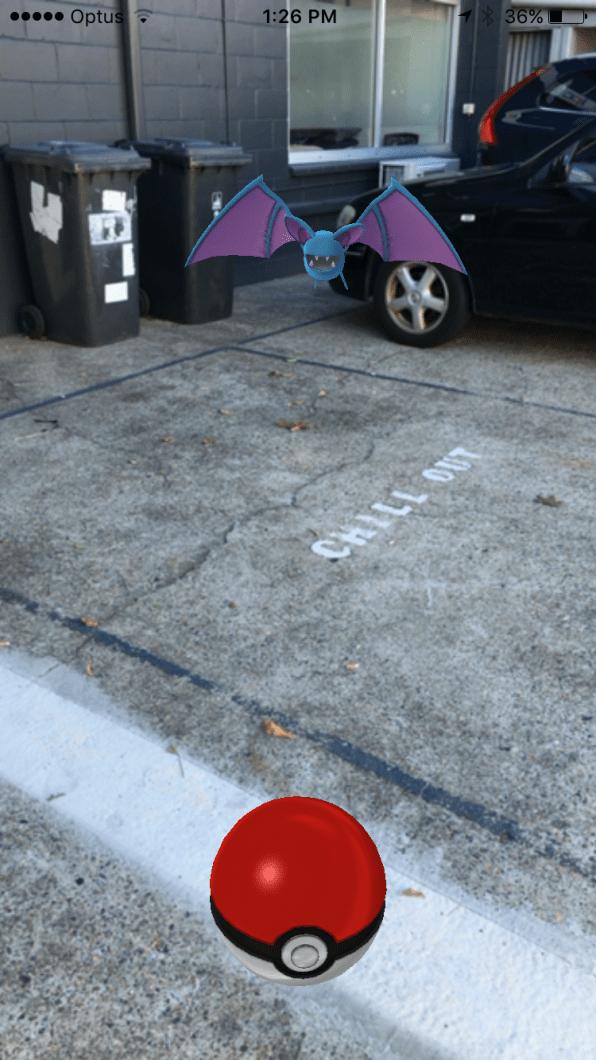 Screenshot de Pokémon GO