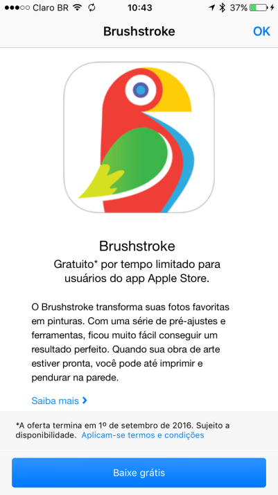 Brushstroke no app Apple Store