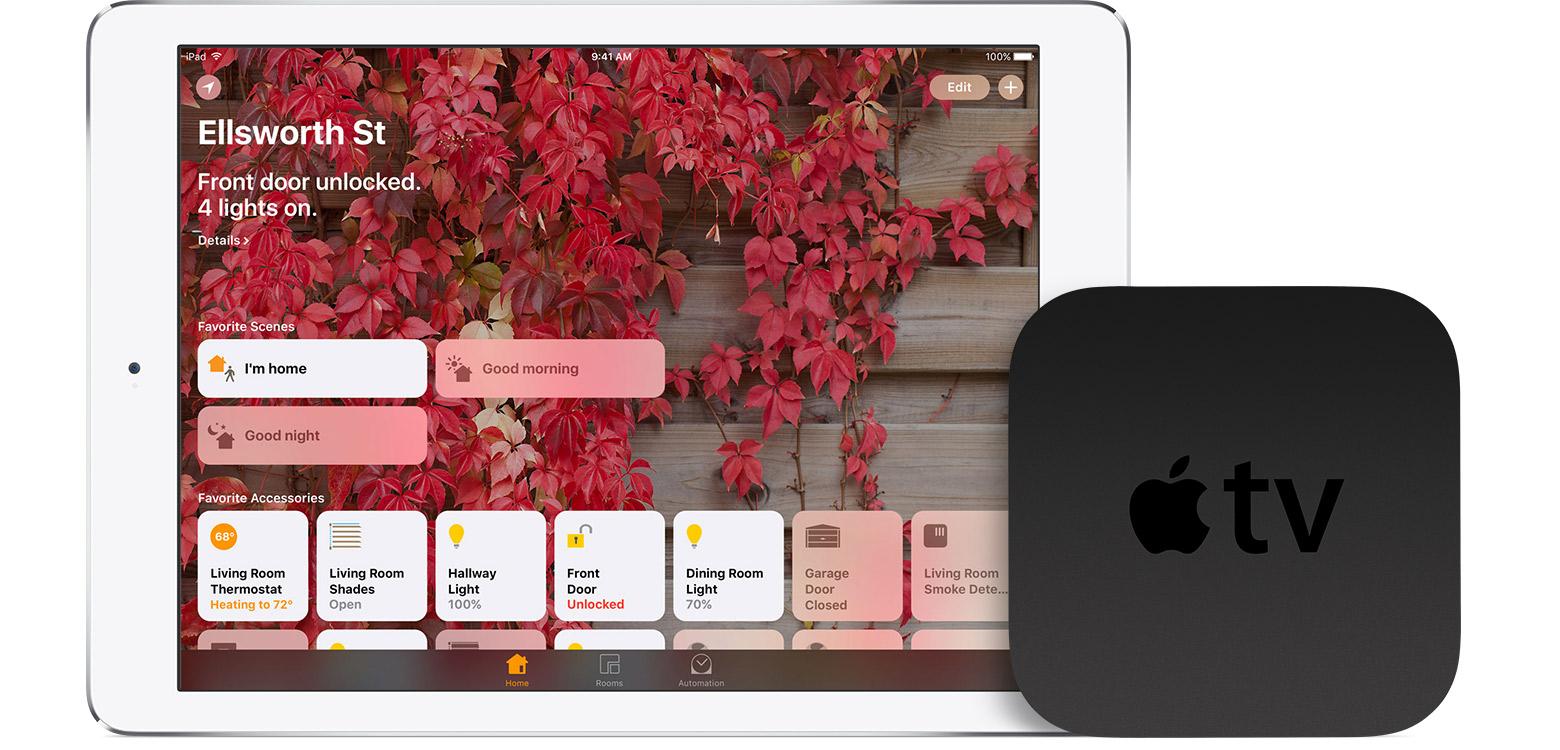 iPad e Apple TV como central da casa (HomeKit)
