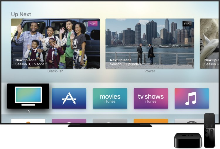 Ícone do novo app TV na tela inicial da Apple TV