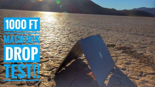 Queda de 300 metros de um MacBook Pro