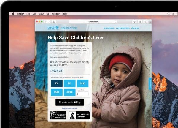 Apple Pay doações web