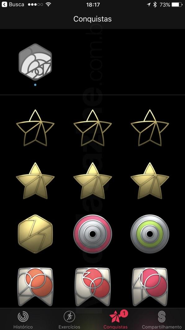 Nova conquista no app Atividade, do Apple Watch