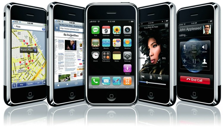 Imagem promocional do iPhone original