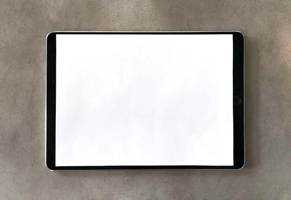Mockup do iPad de 10,5