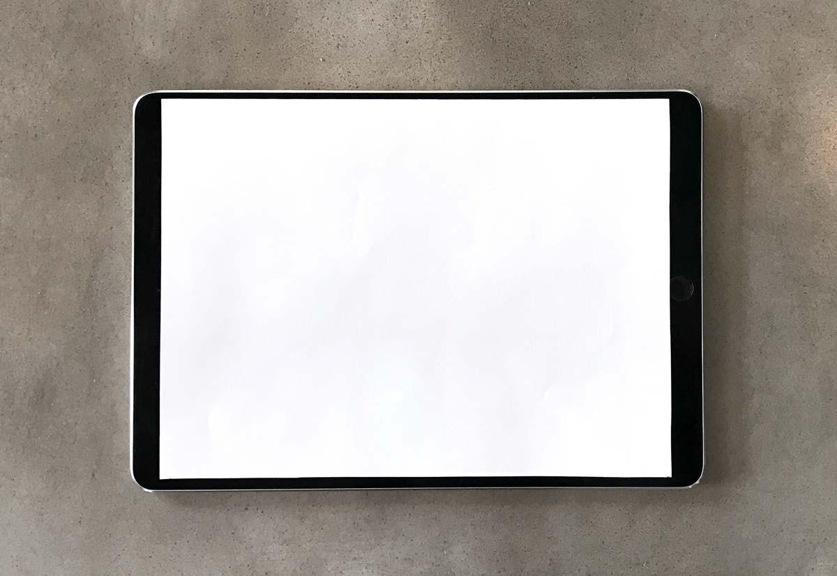 "Mockup do iPad de 10,5"""