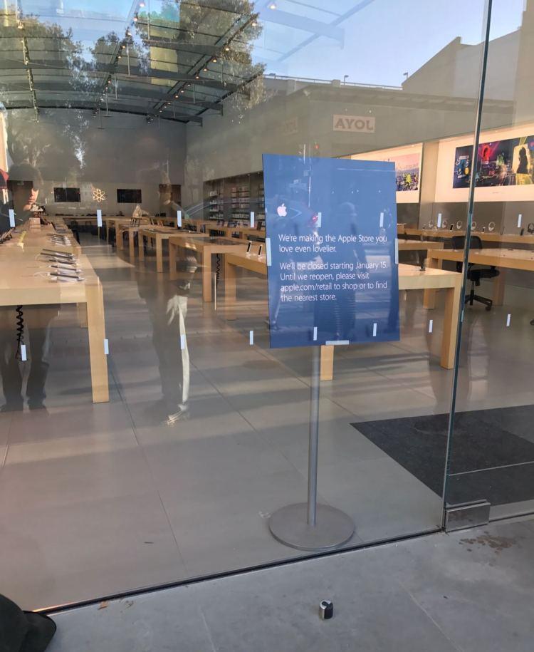 Apple Palo Alto fechada para renovação