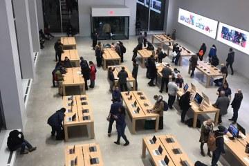 Loja temporária da Apple em Nova York (EUA)