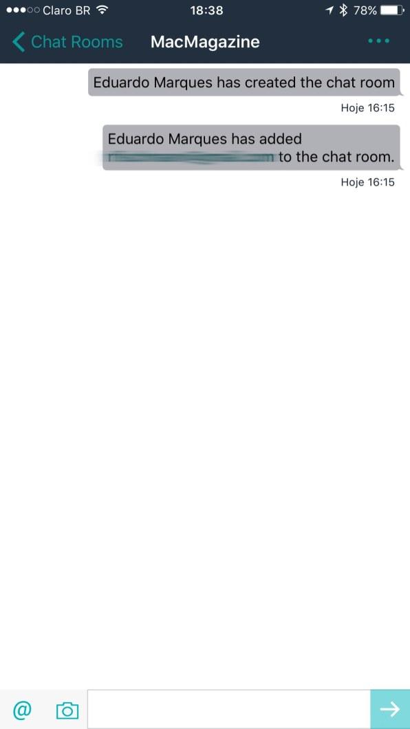 Interface do Amazon Chime para iOS
