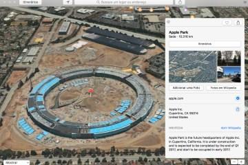 Apple Park nos mapas da Apple