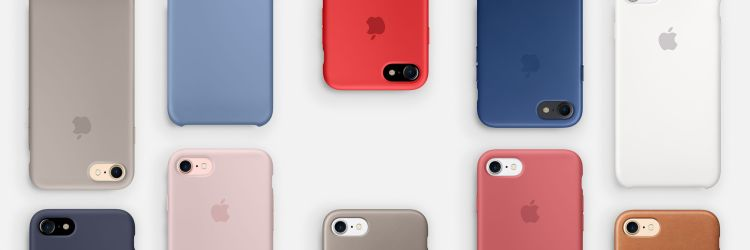 Novas cores de cases da Apple