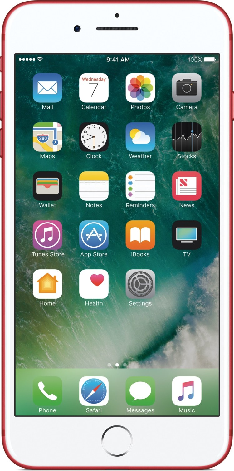 iPhone 7 (PRODUCT)RED de frente