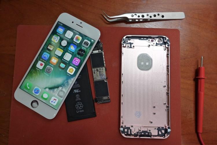 Partes básicas para montar um iPhone
