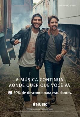Nova campanha com artistas brasileiros para o Apple Music