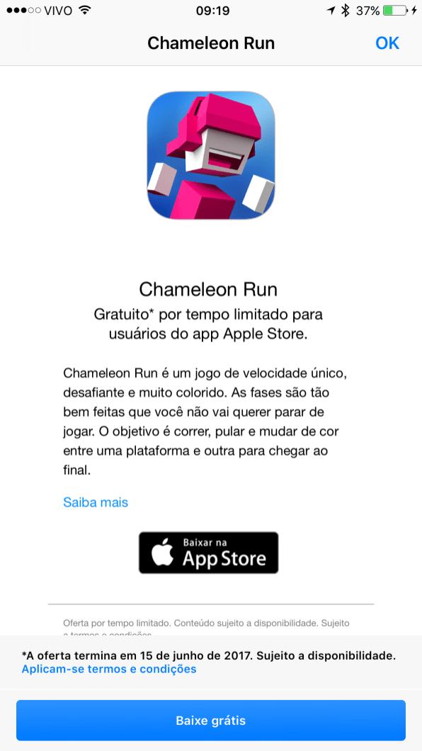 Chameleon Run de graça no Apple Store