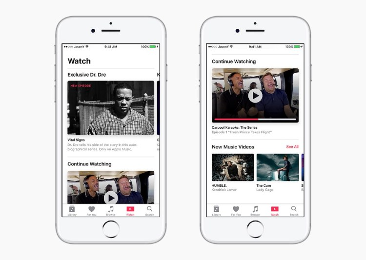 Proposta de redesign do Apple Music do estudante Jason Yuan