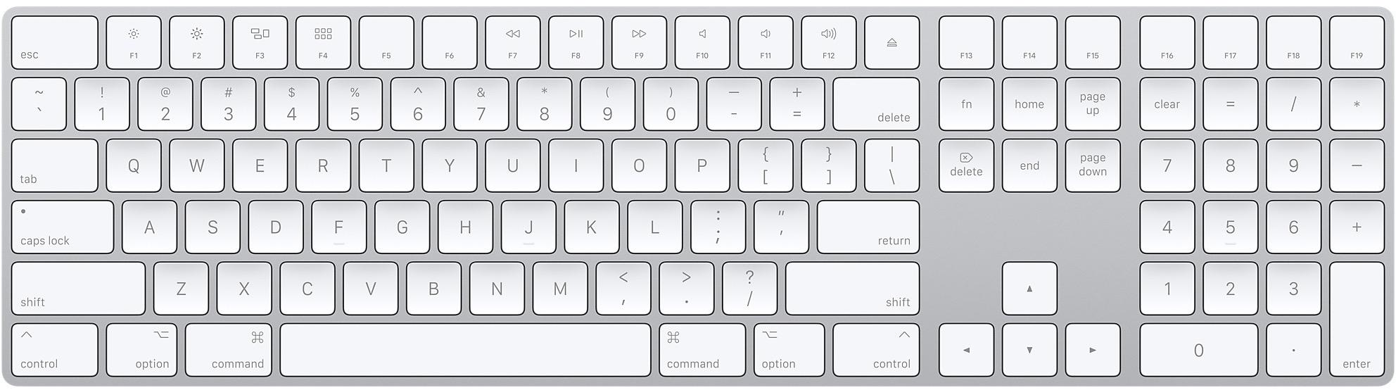 Magic Keyboard com teclado numérico