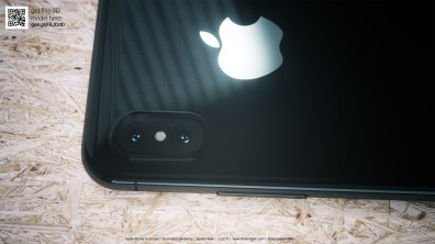 """Mockup/render do """"iPhone 8"""" preto"""