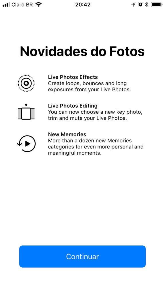 Screenshot do iOS 11 beta