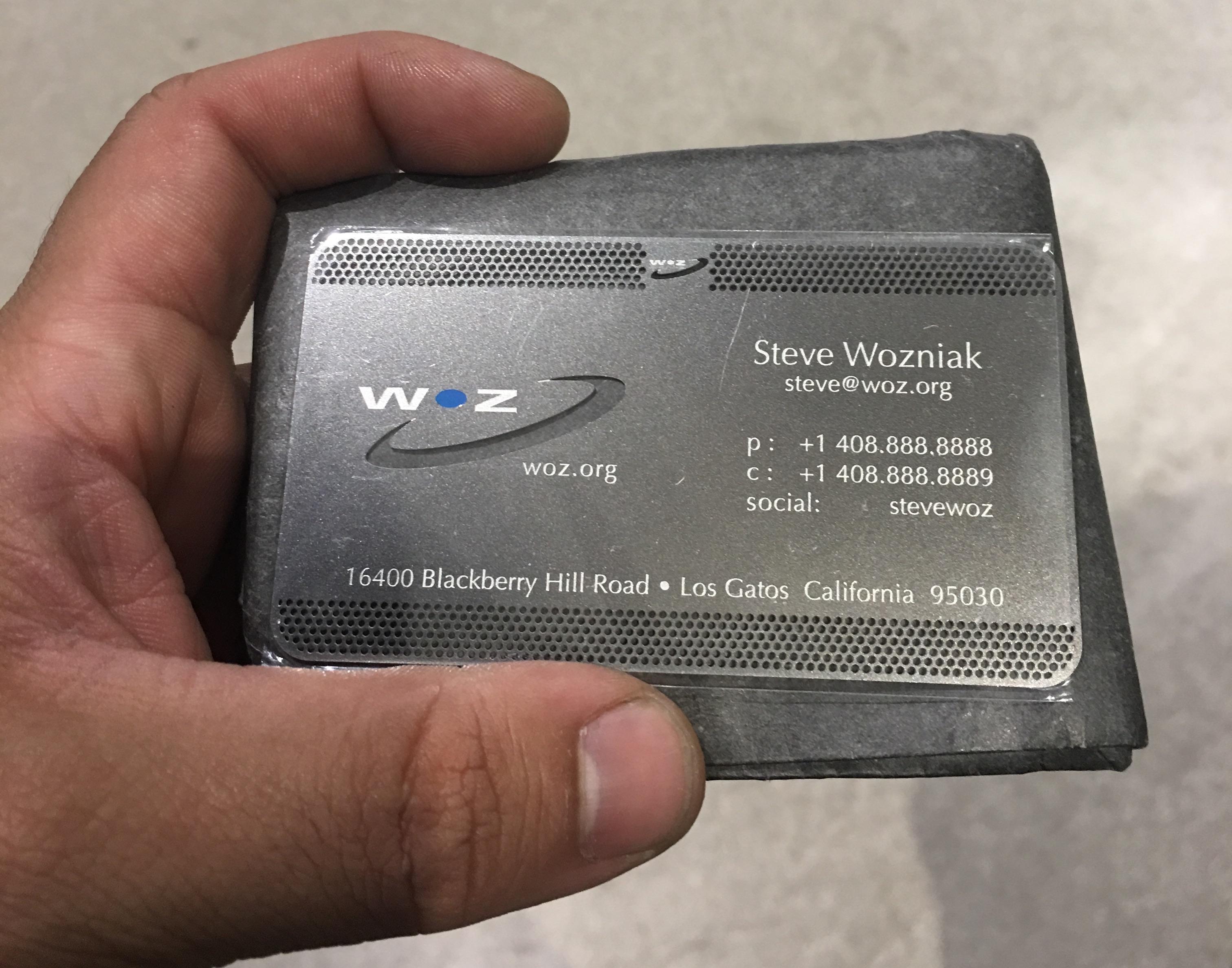 Cartão de visitas de Woz