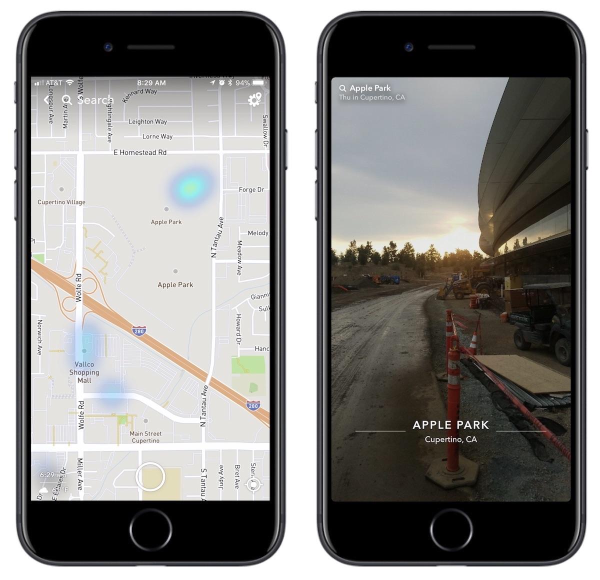 Apple Park no Snapchat