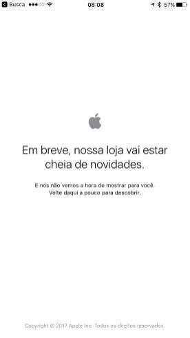 Apple Store fora do ar