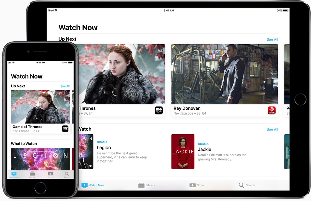 App TV da Apple TV no iPhone e no iPad