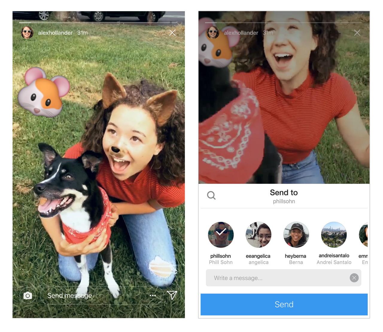 Compartilhando Instagram Stories via Direct