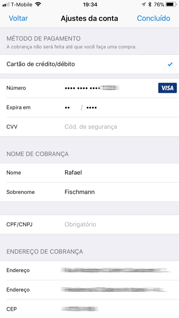 CPF na App Store