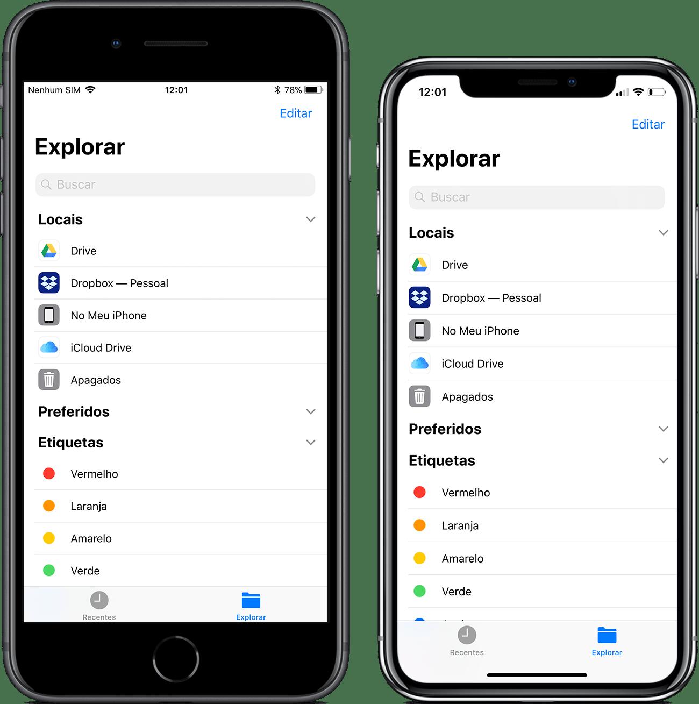 Comparativo entre as telas dos iPhones 8 Plus e X