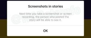 Instagram gravação de tela