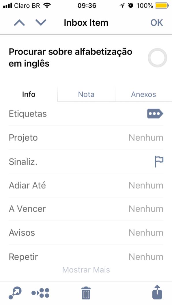 OmniFocus 3 para iOS
