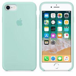 Case de silicone para iPhone 8 na cor verde-água