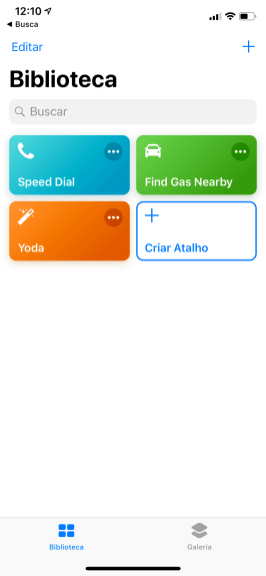 App Atalhos no iOS 12 beta