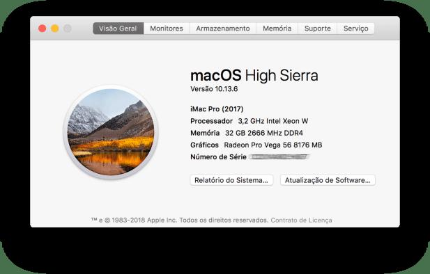 Sobre o iMac Pro