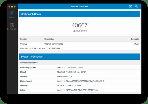 Teste de GPU com OpenCL no MacBook Pro