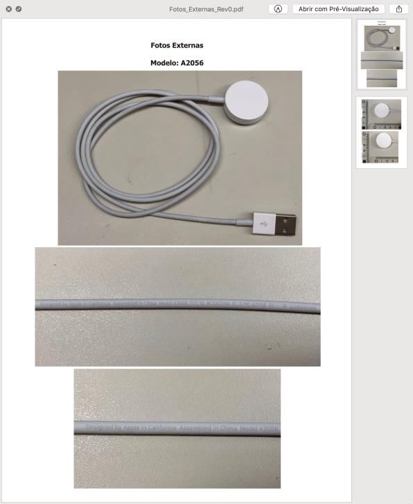 Homologação do carregador magnético do Apple Watch Series 4