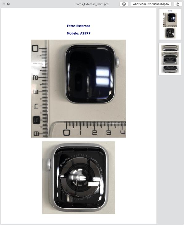 Homologação do Apple Watch Series 4 (GPS)