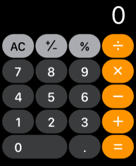 Calculadora no watchOS 6