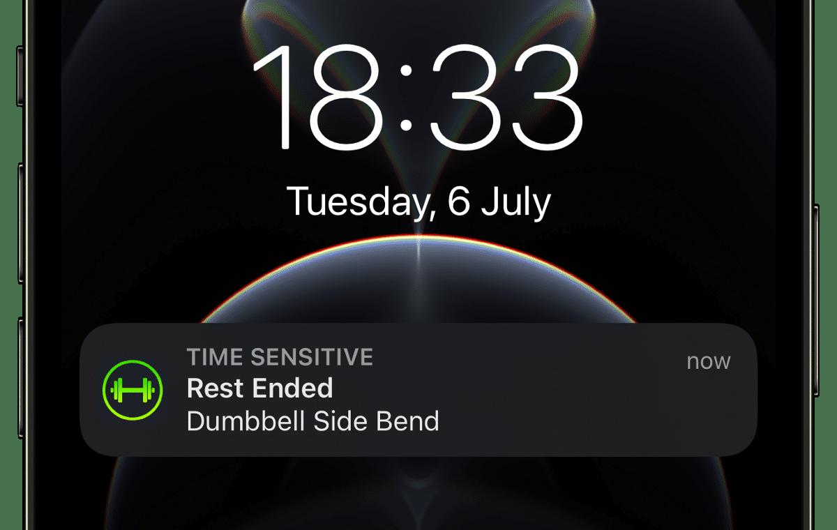 Notificações Sensíveis no SmartGym para iPhone