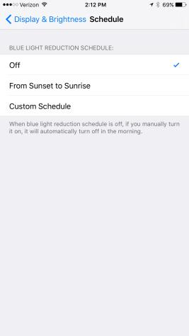 Screenshot do iOS 9.3 beta