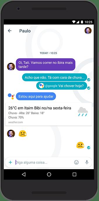 Assistente Google rodando no Allo em português