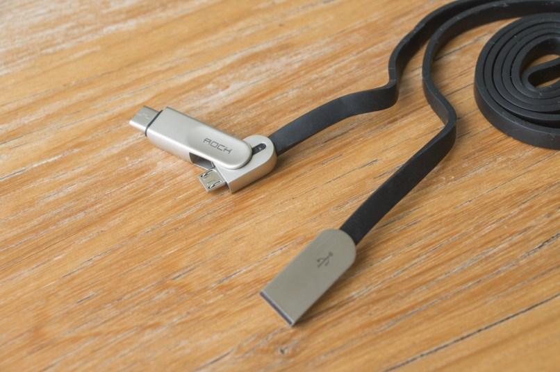 Cabo de Micro-USB/USB-C para USB-A, da ROCK