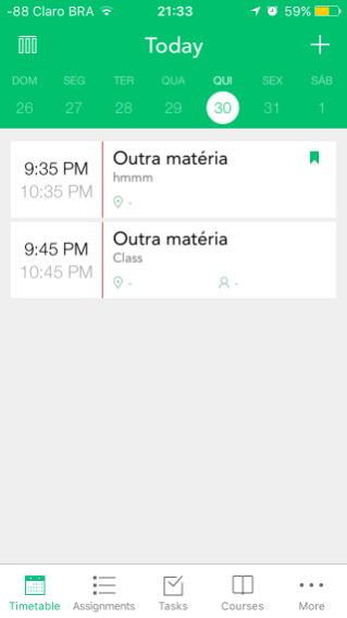 Pocket Schedule