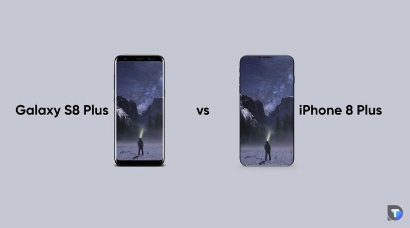 "Mockup do Galaxy S8 Plus vs. ""iPhone 8 Plus"""