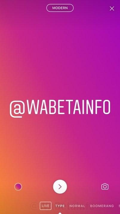 """Novo modo """"Type"""" das histórias do Instagram"""