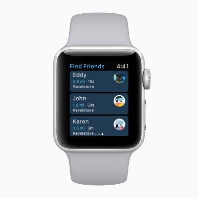 Apple Watch monitorando esportes de neve