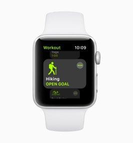 Exercício de trilha no watchOS 5