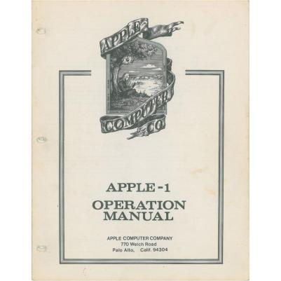 Manual original do Apple I